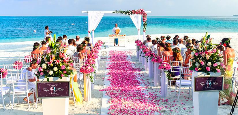 Color Theme of destination Wedding